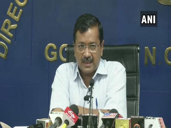Delhi CM Arvind Kejriwal addressing press conference in New Delhi on Friday
