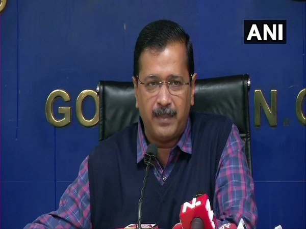 Chief Minister Arvind Kejriwal speaking to reporters in New Delhi on Friday. Photo/ANI