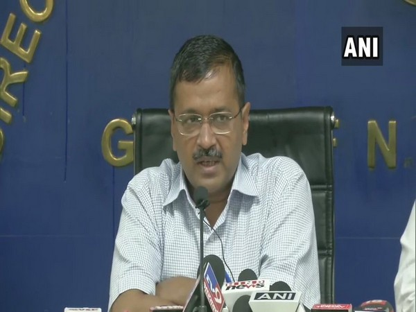 Delhi Chief Minister Arvind Kejriwal speaking at the press conference in New Delhi on Friday.