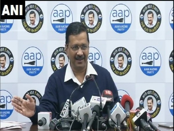 Delhi Chief Minister Arvind Kejriwal speaking at a press conference on Thursday.