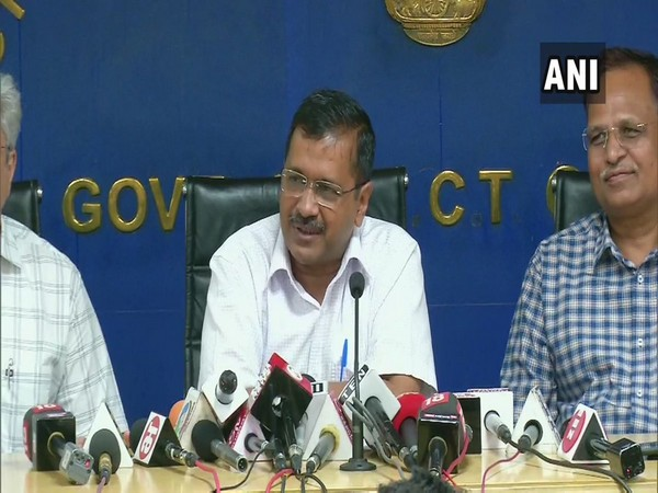 Delhi Chief Minister Arvind Kejriwal while addressing a press conference on Thursday. (Photo/ANI)