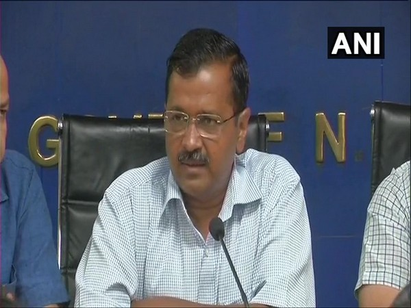 Delhi Chief Minister Arvind Kejriwal addressing a press conference in New Delhi on Monday.