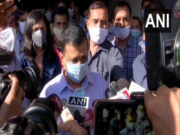 Arvind Kejriwal speaks to reporters on Thursday. (Photo: ANI)