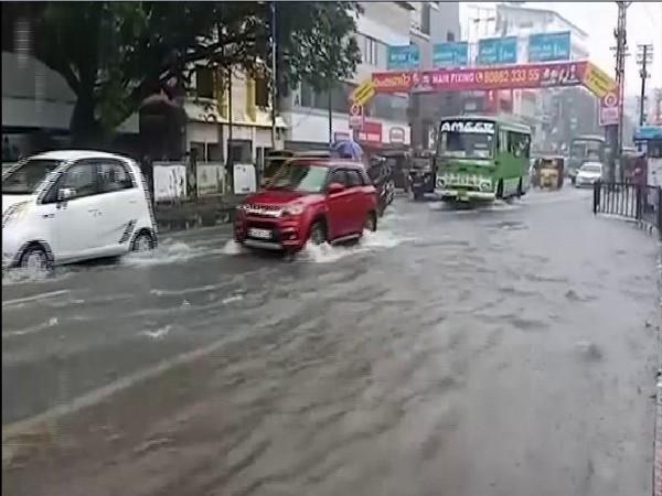 Visuals of flood water from Ernakulam, Kerala.