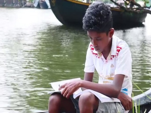 A student from Alappuzha, who has no access to online classes. (Photo/ANI)