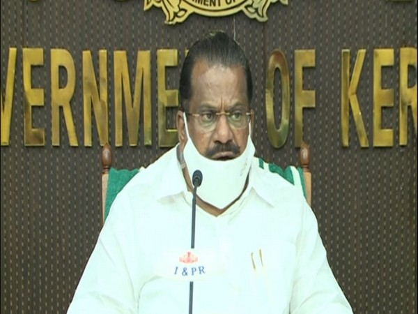 E P Jayarajan, Minister for Industries, Kerala during a Press Conference on Thursday. (Photo/ANI)