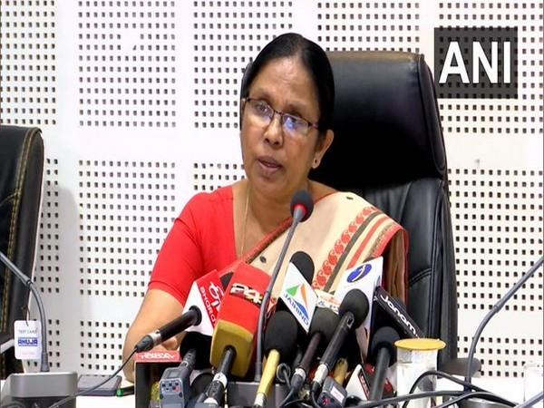 Kerala Health Minister KK Shailaja File photo/ANI