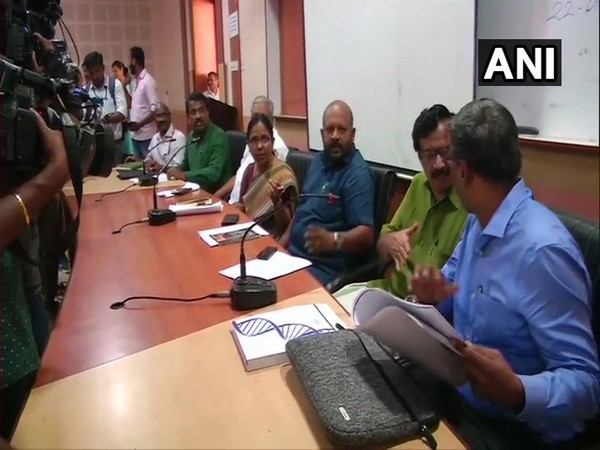 Kerala Health Minister chairs meeting with department officials. Photo/ANI