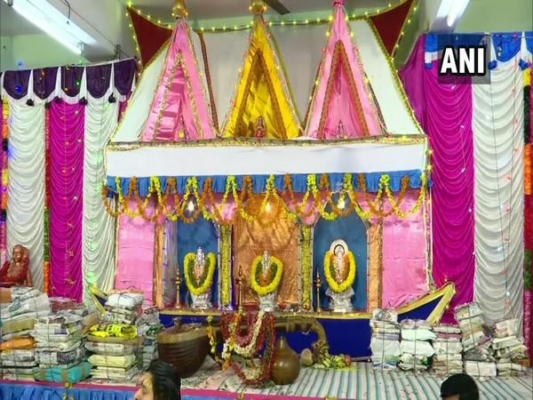 Attukal Bhagavathy Temple in Thiruvananthapuram, Kerala on Sunday. (Photo/ANI)