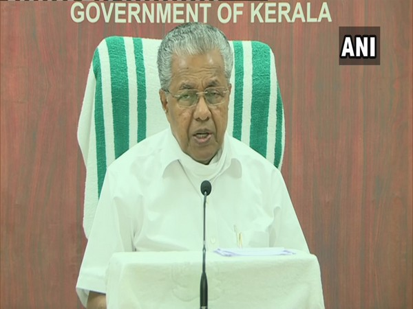 Kerala Chief Minister Pinarayi Vijayan during a press conference on Monday. (Photo/ANI)