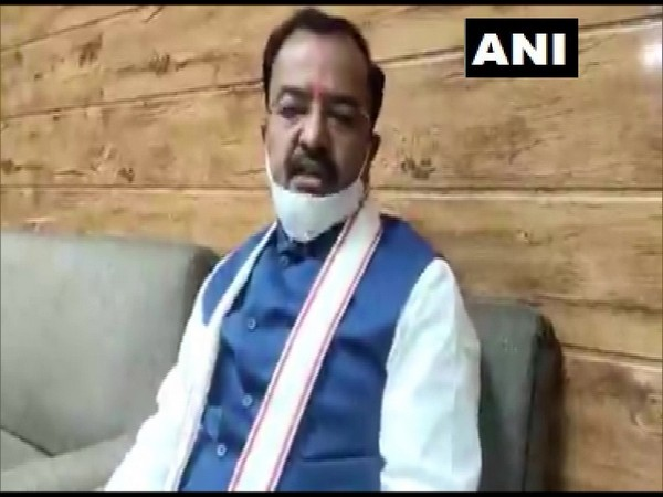 Uttar Pradesh Deputy Chief Minister Keshav Prasad Maurya speaking to ANI in Lucknow on Saturday. (Photo/ANI)