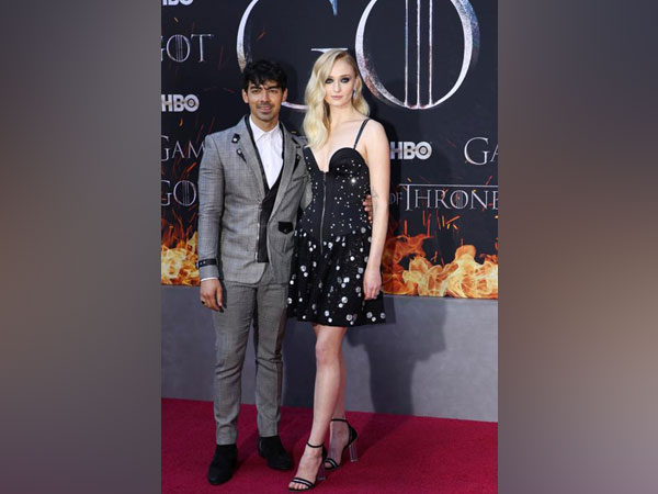 """Joe Jonas and Sophie Turner arrive for the premiere of the final season of """"Game of Thrones"""""""