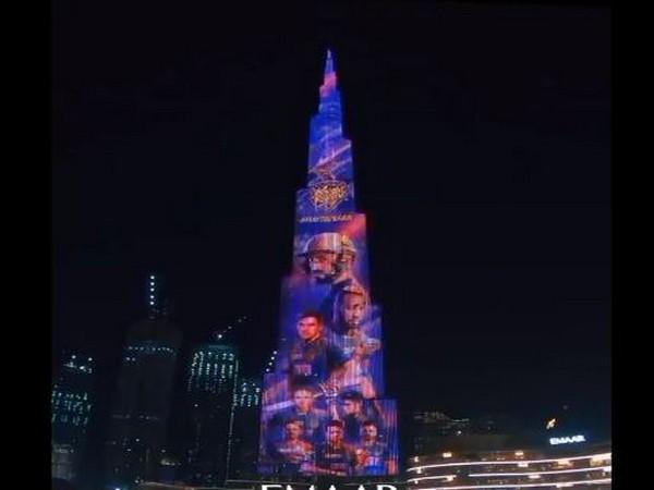 Burj Khalifa lights up for KKR (Photo/ KKR Twitter)