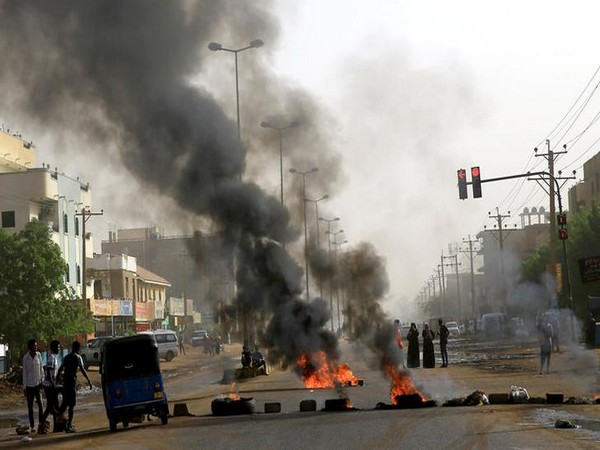 A protest site in Khartoum, Sudan on Tuesday..