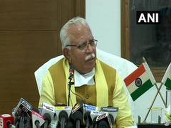 Haryana Chief Minister Manohar Lal Khattar (File photo/ANI)