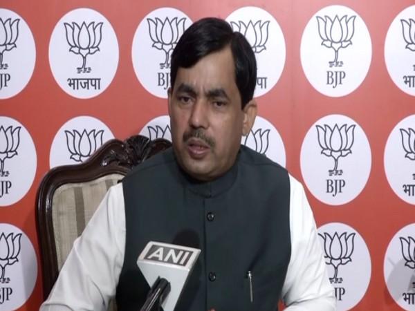 Bharatiya Janata party (BJP) spokesperson Shahnawaz Hussain (file pic/ANI).