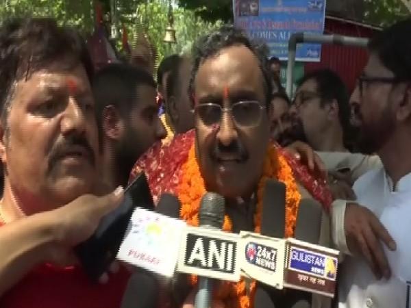 BJP national general secretary Ram Madhav speaking to reporters in Srinagar, Jammu and Kashmir on Monday. Photo/ANI