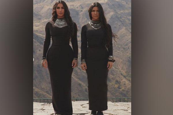 Sisters Kim and Kourtney Kardashians in Armenia (Image courtesy: Instagram)
