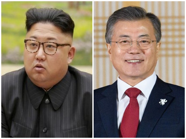 North Korean leader Kim Jong-un, South Korean President Moon Jae-in (file photo)