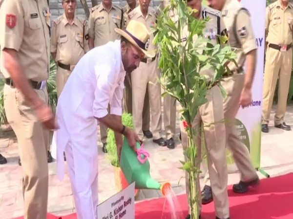 MoS G Kishan Reddy at an event in BSF headquarters on Wednesday. Photo/ANI