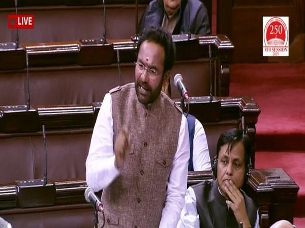 MoS Home GK Reddy in Rajya Sabha (file pic)