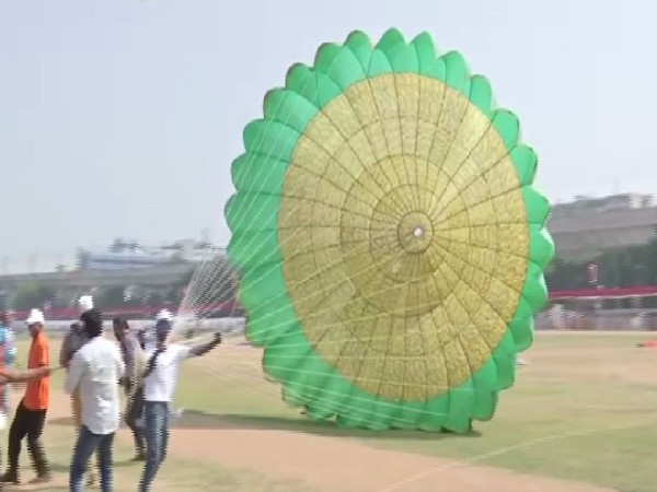 A visual from the annual International Kite and Sweet Festival in Hyderabad, Telangana on Monday.
