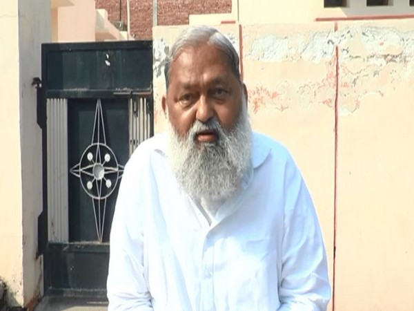 Haryana Home Minister Anil Vij speaking to ANI on Friday.