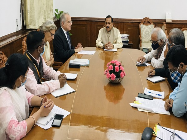 Visual of the meeting chaired by Union Minister Dr Jitendra Singh (Photo/ANI)