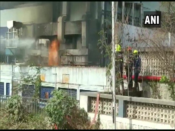 Visual of the fire in Palghar (Photo/ANI)