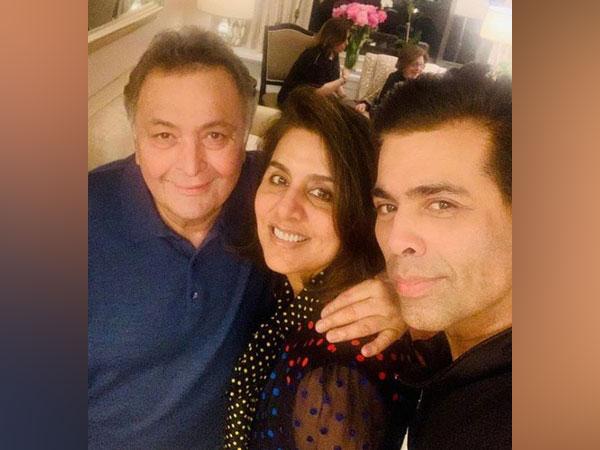 Rishi Kapoor, Neetu Kapoor and Karan Johar, Image courtesy: Instagram