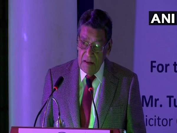 Attorney General KK Venugopal speaking at the Second J Dadachanji Memorial Debate