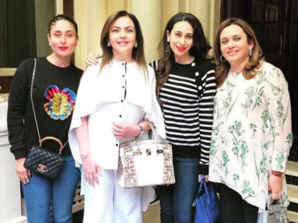Kareena Kapoor Khan, Nita Ambani and Karisma Kapoor, Image courtesy: Instagram