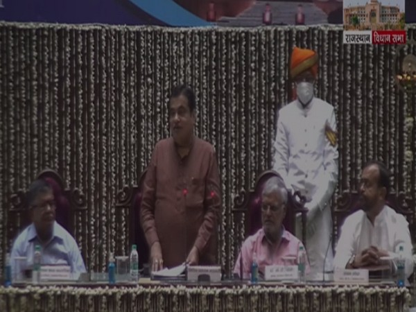 Union Minister Nitin Gadkari addressing a seminar on 'Parliamentary System and People's Expectations' in Rajasthan Assembly. (Photo/ANI)