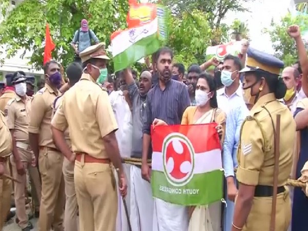 A visual from the protest in Kochi.