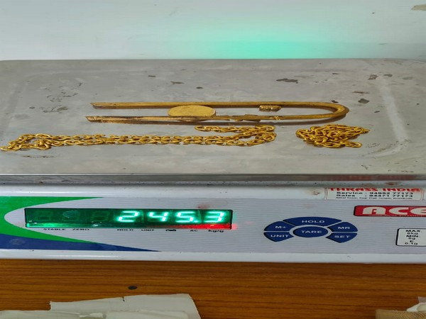 245 gram gold of 24-carat purity worth Rs 12.25 lakh was seized at Kozhikode International Airport. (Photo/ANI)