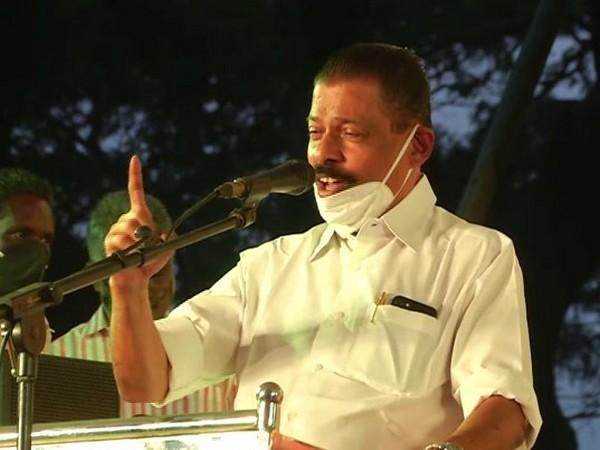 CPM's senior leader MV Govindan during a party event in Kochi on Sunday. (Photo/ANI)