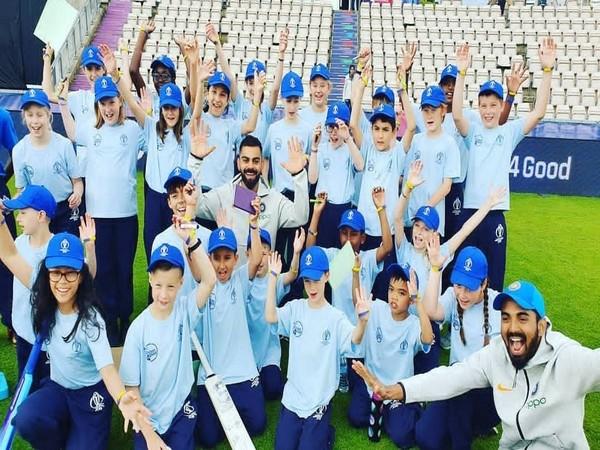 India skipper Virat Kohli with kids (Photo/imVkohli Twitter)