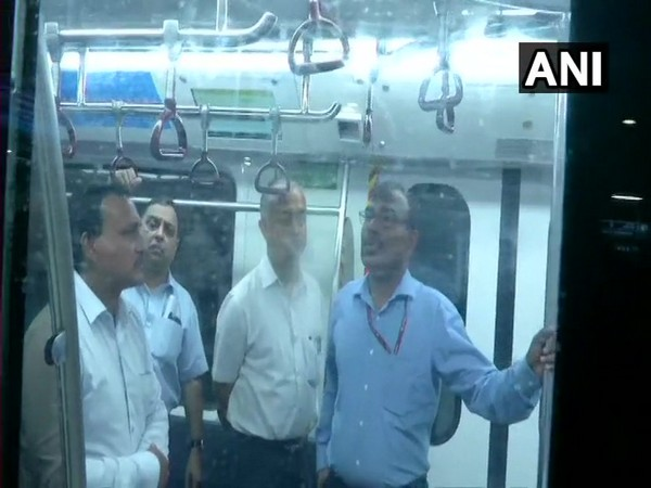 Commission of Railway Safety Sailesh Garg inspected metro train whose door had allegedly malfunctioned.