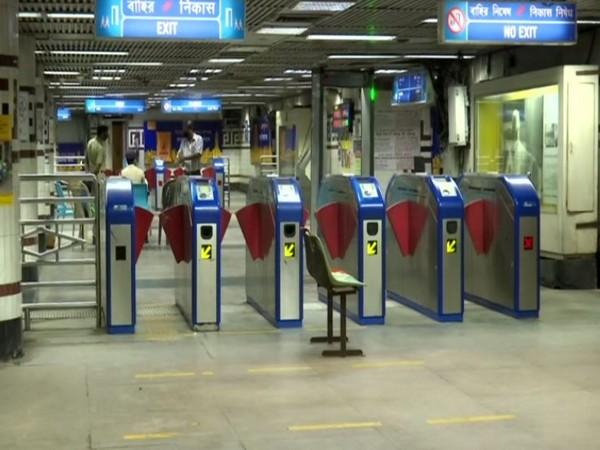 A visual form the Kolkata metro station. (Photo/ANI)