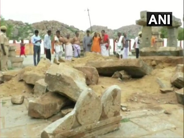 Temples of spiritual Gurus in Anegundi village of Gangavathi taluk have been destroyed