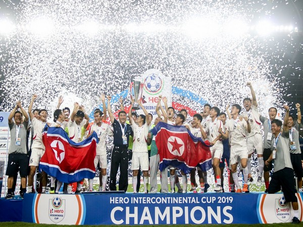 DPR Korea with the Intercontinental Cup title. (Photo/Indian Football Twitter)