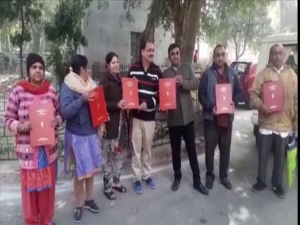 8 Pakistani people get Indian citizenship in Kota. Photo/ANI