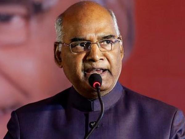 President of India Ram Nath Kovind (File image/ANI)