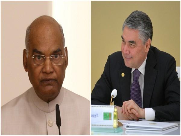President Ram Nath Kovind and Turkmenistan President  Gurbanguly Berdimuhamedov. (Photo/Reuters)