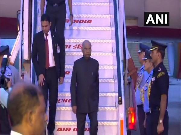 President Ram Nath Kovind reaches India on Sunday.