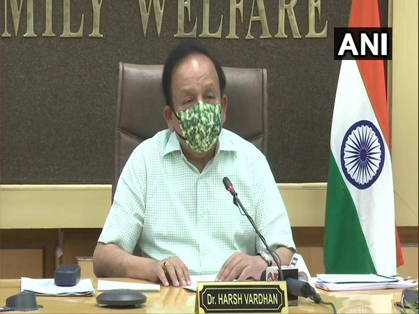 Union Health Minister Dr Harsh Vardhan at 24th meeting of the high-level Group of Ministers (GoM) on COVID-19 on Friday.