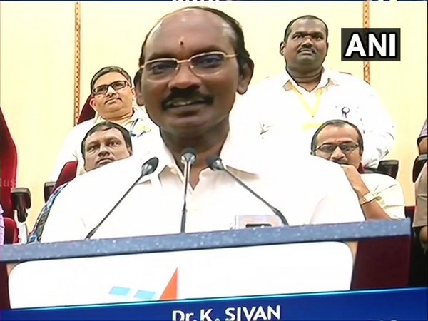 K Sivan , ISRO chief at Satish Dhawan Space Centre Sriharikota , Andhra Pradesh on Wednesday
