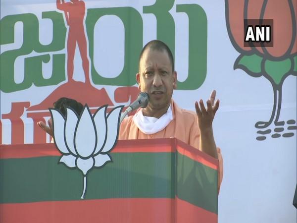 Uttar Pradesh Chief Minister Yogi Adityanth addressing BJP event in Kerala. (Photo/ANI)