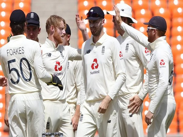 England players celebrate after dismissing Rohit Sharma (Photo/ BCCI)