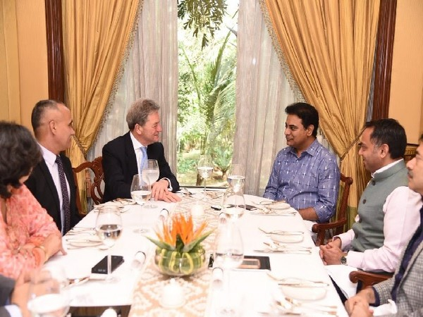 A delegation headed by Boeing International President Michael Arthur meets Telangana Minister KT Rama Rao. (Courtesy/ Twitter handle of KT Rama Rao)